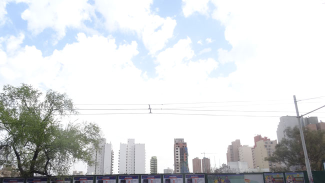 Skyline through an Empty Lot