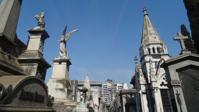 Visiting Cementerio de la Recoleta