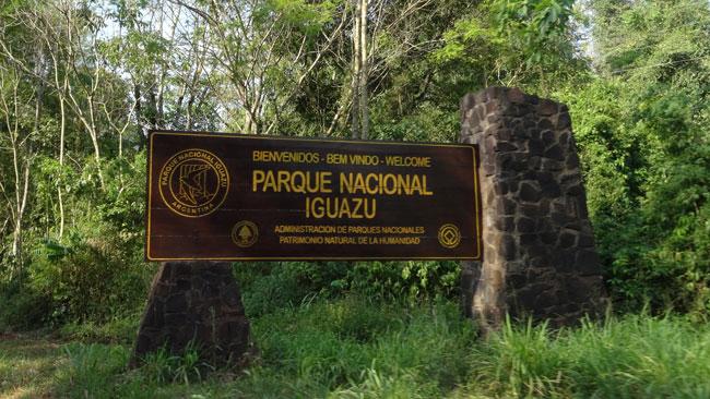 Entering Parque Nacional Iguazu